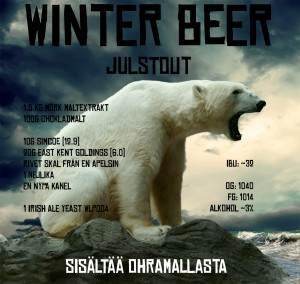Label for the Christmas stout, Winter Beer